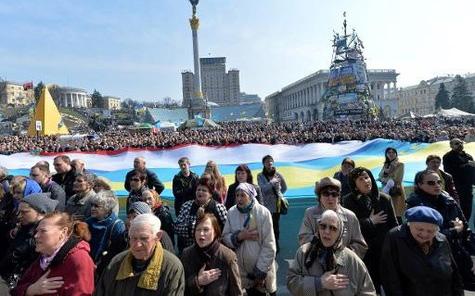 Place Maïdan, Kiev, 23 mars 2014