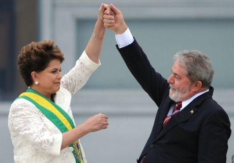 Dilma Rousseff et Lula en janvier 2011