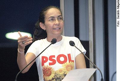 Heloisa Helena en 2006; elle a quitté le PSOL depuis...