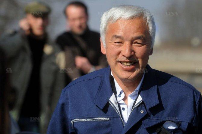 Naoto Matsumura à Fessenheim le 9 mars lors de la manifestation: trois ans après Fukushima