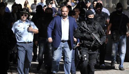 Ilias Panagiotaros, député d'Aube dorée (voir ses déclaration en note 1)