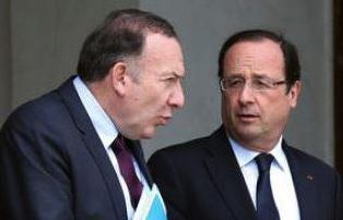 Pierre Gattaz, du Medef, et François Hollande