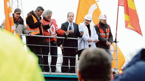 François Hollande, à Florange, lors de la campagne présidentielle