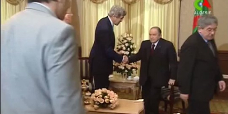 John Kerry et Abdelaziz Bouteflika, le 3 avril 2014