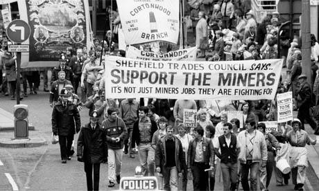 Marche de soutien aux mineurs en grève en 1984