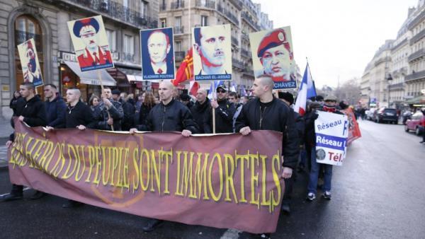 Manifestation pro-Assad, à Paris le 2 février 2013, de l'ultra-droite dite anti-impérialiste