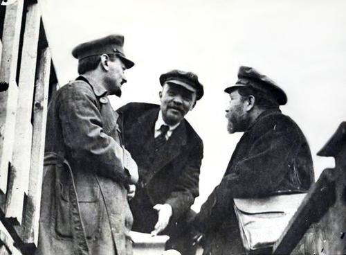Trotsky, Lénine, Kamenev