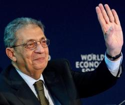 Amr Moussa lors du WEF de Davos