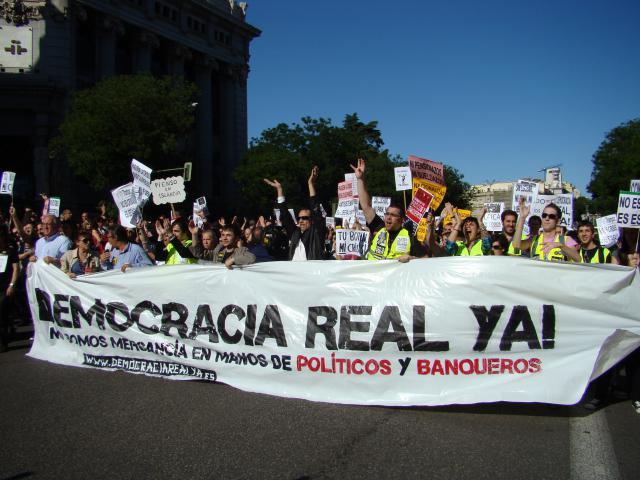 «Nous ne sommes pas des marchandises aux mains de politiciens et des banquiers»