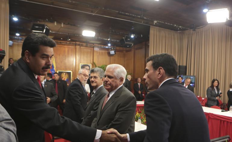 Nicolas Maduro et Henrique Capriles, 11 avril 2014