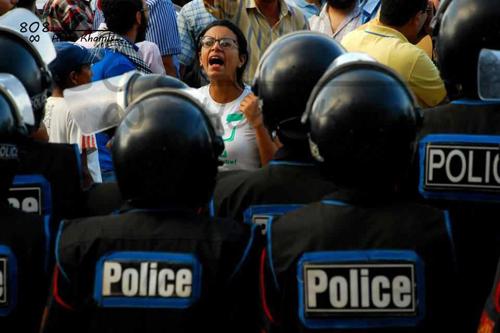 Mahienour El-Massry face à la police