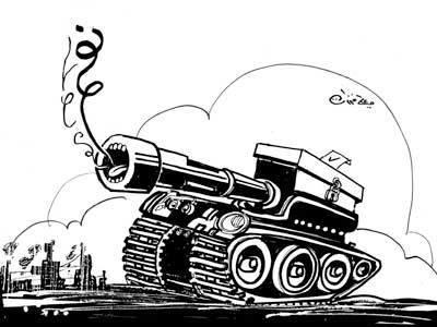 Votez «OUI», le 3 juin (dessin de Ali Farzat)
