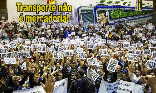 Le 5 juin au matin, les travailleurs du métro de Sao Paulo