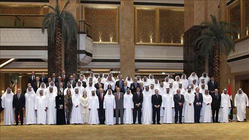 La fonction principale du roi: VRP pour les «hommes de bonnes affaires» des patrons espagnols. Ici dans les pays du Golfe
