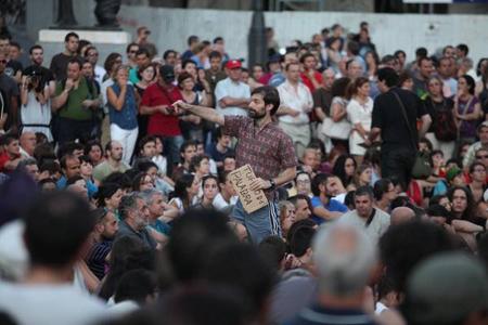 Réunion publique d'un cercle de Podemos