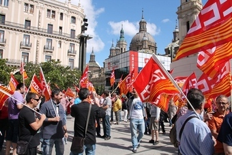 «Manifestation» à Saragosse