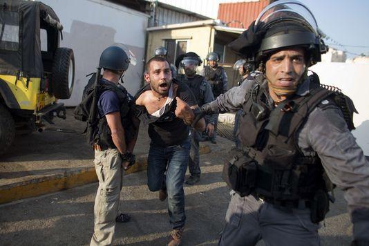 Manifestation réprimée d'Arabes israéliens à Nazareth,  le 21 juillet 2014