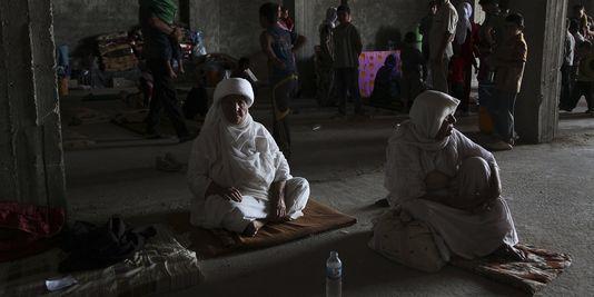 Yésidis dans la province de Dohouk en Irak, le 7 août 2014
