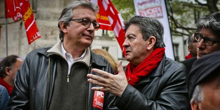 Pierre Laurent (PCF) et Jean-Luc Mélenchon...