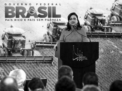 Katia Abreu, présidente de la CNAPB, sénatrice de l'Etat du Tocantins, proche de Monsanto