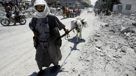 Gaza, «à reconstruire»...