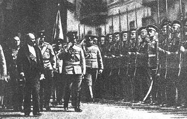 Raymond Poincaré à Saint-Pétersbourg en juillet 1914