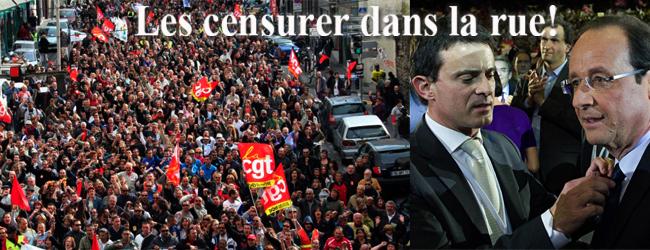 France. La censure face à ce gouvernement peut et doit s'exprimer dans la rue