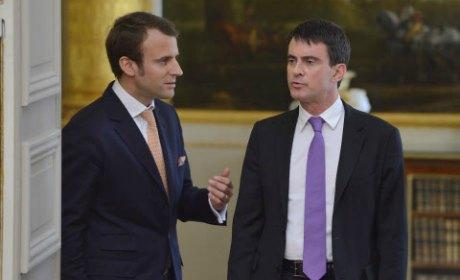 Emannuel Macron et Manuel Valls