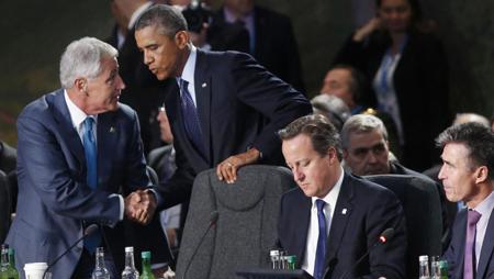 5 septembre 2014, en marge du sommet de l'OTAN, la «coalition internationale pour lutter contre les djihadistes de l'EI»