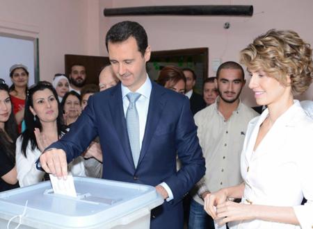 Bachar et sa femme s'élisent... le 3 juin 2014