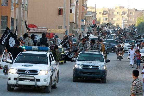 Da'ech dans la province de Raqqa en juin 2014