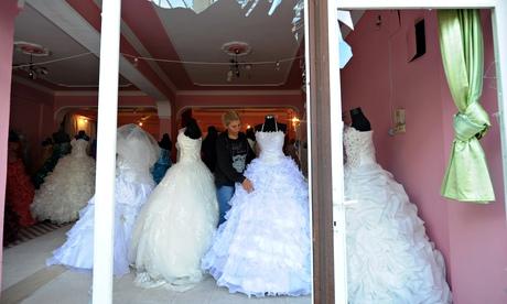 Boutique pour «robes de mariée» à Reyhanli, près de la frontière syrienne