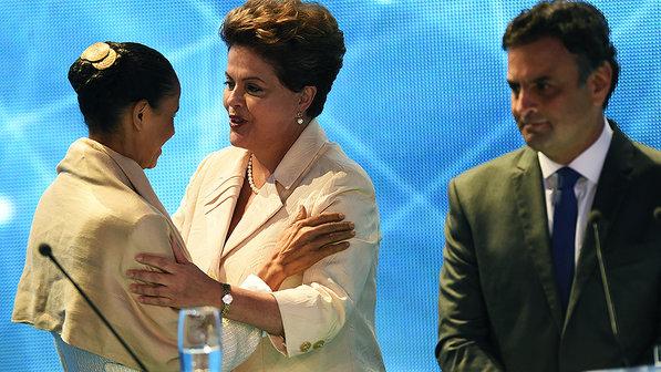 Marina Silva, Dilma Rousseff, Aécio Nieves