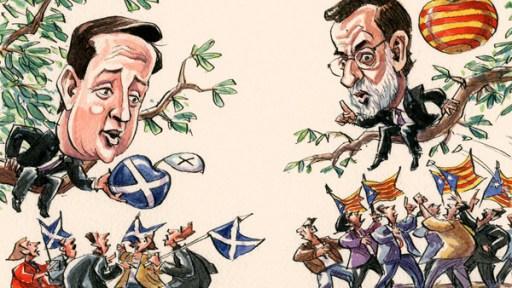 Deux conservateurs, Cameron et Rajoy, deux attitudes différentes pour des «raisons» historiques et conjoncturelles