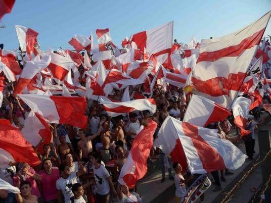 Supporters du Zamalek, certains sont arrêtés en mars 2014