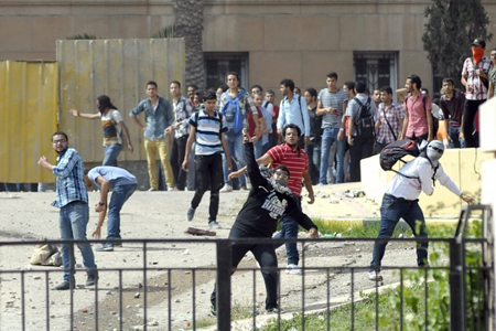 Alexandrie: les étudiants dès le 11 octobre s'affrontent aux forces de «sécurité»