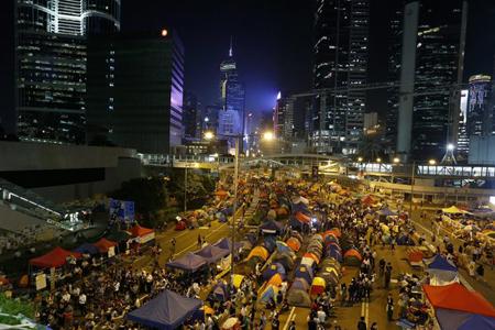 Dans la soirée du lundi 20 octobre dans le quartier d'Admiralty