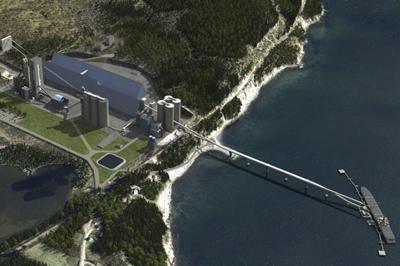 Une maquette de la cimenterie de Port-Daniel: une maquette... sans émission de CO2