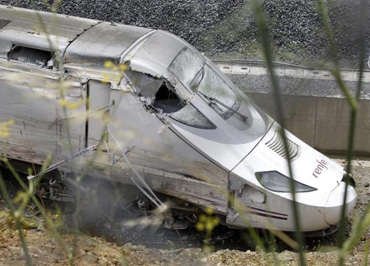 Accident en juillet 2013, près de Santiago de Compostela (Galice)