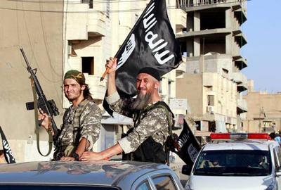L'EI à Raqqa (Syrie), début juillet 2014