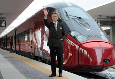 Luca Cordero di Montezemolo, en 2012, dans la gare de Salerne, à quelques 55 kilomètres plus au sud de Naples