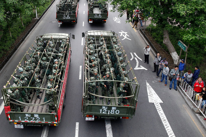 L'Armée populaire de libération dans la province du Xinjiang