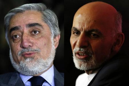 Abdullah Abdhullah et Ashraf Ghani (un ancien  de la Banque mondiale)