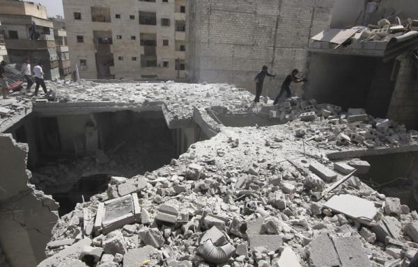 Alep: quartier Al Ansari, situé au sud-ouest de la ville (2013)