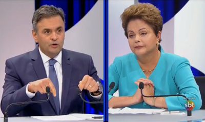 Aécio Neves (1960) et Dilma Rousseff (1947)