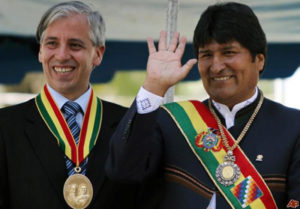 Alvaro Garcia Linera et Evo Morales