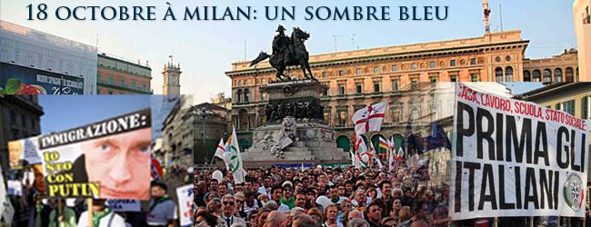 Italie. Milan, 18 octobre: une mobilisation réactionnaire qui en dit long…