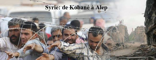 Syrie. De Kobané à Alep, un horizon ténébreux; une solidarité plus nécessaire