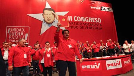 Nicolas Maduro, lors du Congrès du PSUV, en juillet 2014