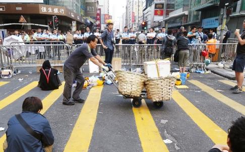 Mong Kok, le 21 octobre au matin